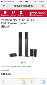 Yamaha surround system plus subwoofer in Naperville, Illinois