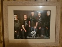Autographed Breaking Benjamin framed poster in Fort Campbell, Kentucky