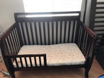 brown cover table crib/toddler bed in Camp Pendleton, California