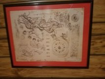Autographed poster from the band starset framed in Fort Campbell, Kentucky