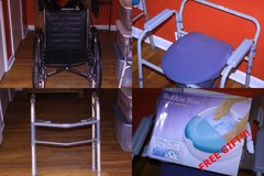 Medical Equipment Wheelchair + Walker + Commode + Foot Spa = $75.00 in Perry, Georgia