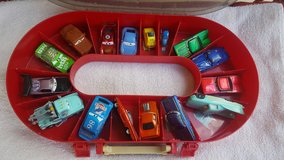 Disney Cars Toys & Carrying Case / Racetrack in Glendale Heights, Illinois