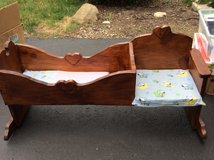 Wooden  Bed/rocking chair for American Girl-sized doll in Naperville, Illinois