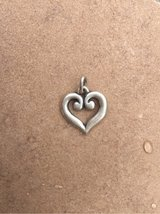 James Avery Sterling Silver Scrolled Heart Charm/Pendant in Kingwood, Texas