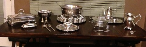 Silver plated collection in Kingwood, Texas