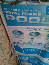 Intex 10 X 30 in metal frame pool in Yucca Valley, California
