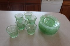 Green Depression Glass in Alamogordo, New Mexico