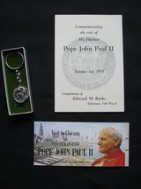 Lot of 3 Commemorative Items from Pope John Paul II Chicago Visit 1979 in Lockport, Illinois
