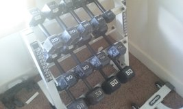 Dumbbells with stand in Batavia, Illinois