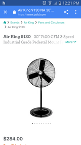 Air king 30 inch 3 speed shop fan in Fort Hood, Texas