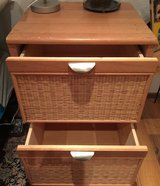 Wood with Wicker Accent File Cabinet in Stuttgart, GE