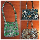 Three Vera Bradley purses in Warner Robins, Georgia