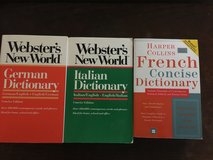 French, German, & Italian Webster Dictionaries in Clarksville, Tennessee