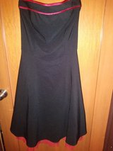 Black strapless dress in Spring, Texas