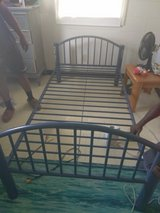 Twin size bed frame blue metal great condition in Clarksville, Tennessee