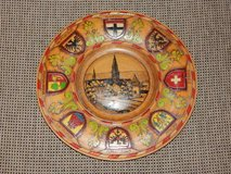 Hand-Carved Lake Konstanz Wood Plate in Stuttgart, GE