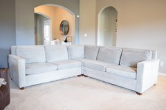 Sectional Henry 3-Piece L-Shaped West Elm Sofa in Clarksville, Tennessee