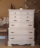 5 drawer weathered & distressed dresser in Naperville, Illinois