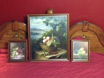 THREE BEAUTIFUL OIL ON CANVAS PICTURES OF FRUIT in Kingwood, Texas