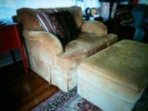 Beautiful Big Chair (&1/2) with Ottoman in Clarksville, Tennessee
