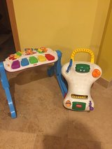 Bundle Piano and  Walk 'n Ride Toy LIKE NEW in Morris, Illinois