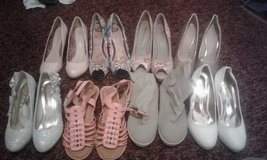 Women's heels and two pairs of flats. in Leesville, Louisiana