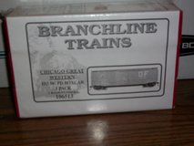 Branchline Trains  Chicago Great Western HO Scale 50' PD Boxcar 3 Pack Kit in Joliet, Illinois