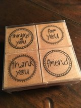 Message Circles Rubber Stamps - NEW in Okinawa, Japan