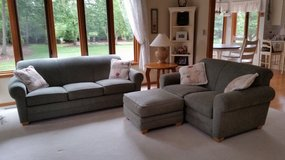 Sofa, love seat and ottoman. Great condition. $425 . in Morris, Illinois