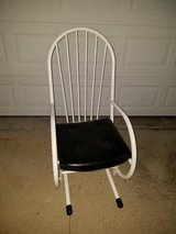 Large / White / Metal Glider Rocker in Fort Campbell, Kentucky