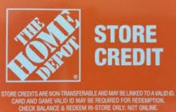 Home Depot Store Credit in Los Angeles, California