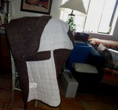 Quilted Brown Couch & Chair Cover in Alamogordo, New Mexico