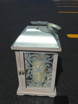 Silver outdoor candle holder in Naperville, Illinois