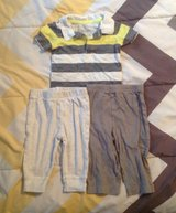 BABY OUTFIT, PANTS WITH 2 SHIRTS 6-9 MONTHS in Cherry Point, North Carolina