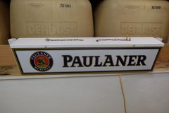 Paulaner German Beer Overhead Lamp Sign in Ramstein, Germany