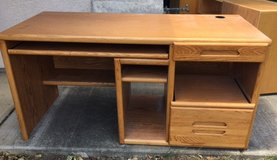 desk - solid oak in Vacaville, California