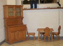 Nice Cupboard with Table and Chairs in Ramstein, Germany
