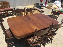 ANTIQUE DINING TABLE WITH (6) PRESSBACK CHAIRS in Kingwood, Texas