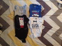 4 BABY ONESIES SIZE 18 MONTHS in Cherry Point, North Carolina