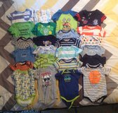 24 BABY ONESIES SIZE 12 MONTHS in Cherry Point, North Carolina