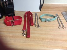 Dog collars and leash in Fort Irwin, California