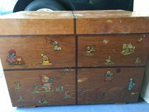 Antique wooden toy box in Bolingbrook, Illinois