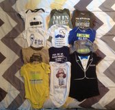 12 BABY ONESIES SIZE 6-9 MONTHS in Cherry Point, North Carolina