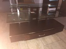 very sturdy TV stand with Glass shelves in Ramstein, Germany