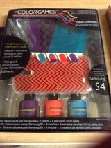 Nail polish design set with s4 android case in Fort Irwin, California