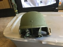 Mich helmet with light in Camp Pendleton, California
