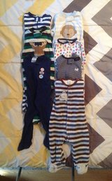 7 BABY SLEEPERS SIZE 6-9 MONTHS in Cherry Point, North Carolina