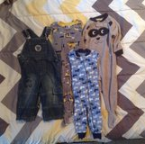 3 BABY SLEEPERS & 1 BLUE JEAN OVERALLS SIZE 18 MONTHS in Cherry Point, North Carolina