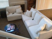 Couch and small love seat in Fairfield, California