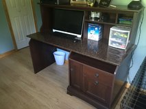 Desk with hutch 59w x 24d x 47.5h in Watertown, New York